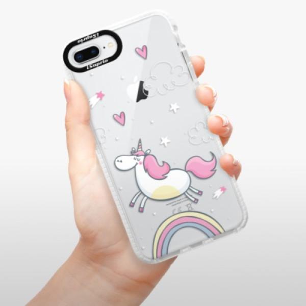 Silikonové pouzdro Bumper iSaprio - Unicorn 01 - iPhone 8 Plus
