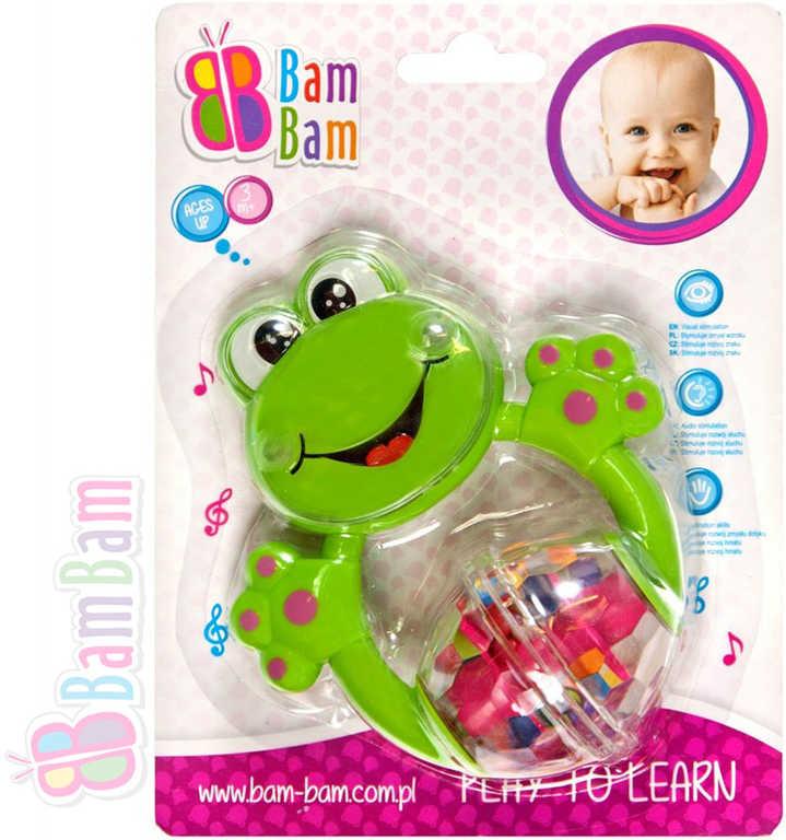 ET BAM BAM Chrastítko plastové ŽABKA pro miminko
