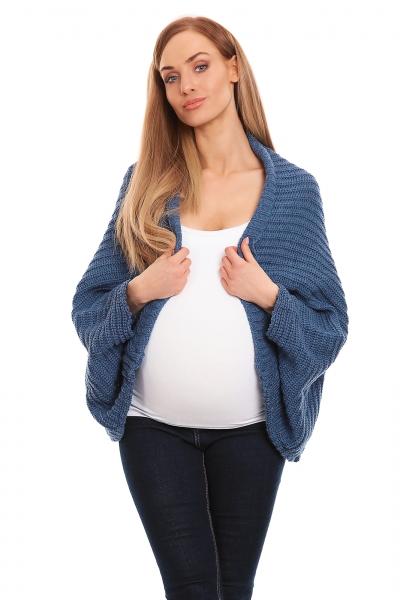Be MaaMaa Volný těhotenský kardigan - jeans - UNI