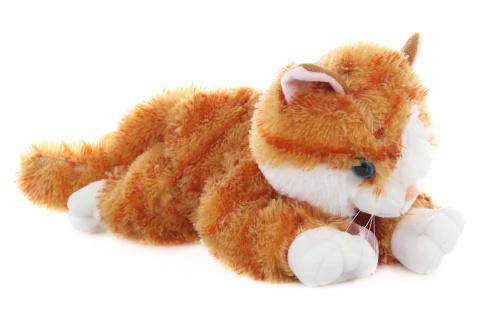 Plyš Kočka zrzavá 30 cm