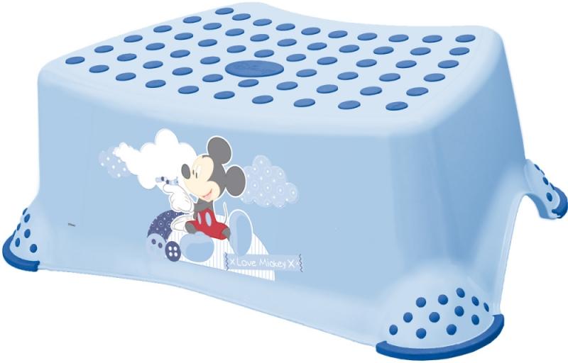 Keeeper Stolička, schůdek s protiskluzovou funkcí - Mickey Mouse - modrá