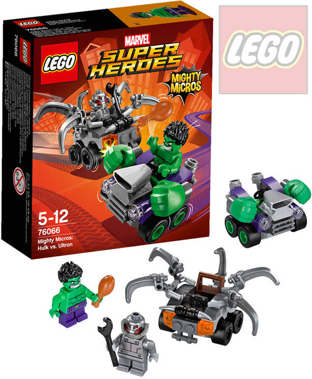 LEGO SUPER HEROES Mighty Micros: Hulk vs. Ultron 76066 STAVEBNICE