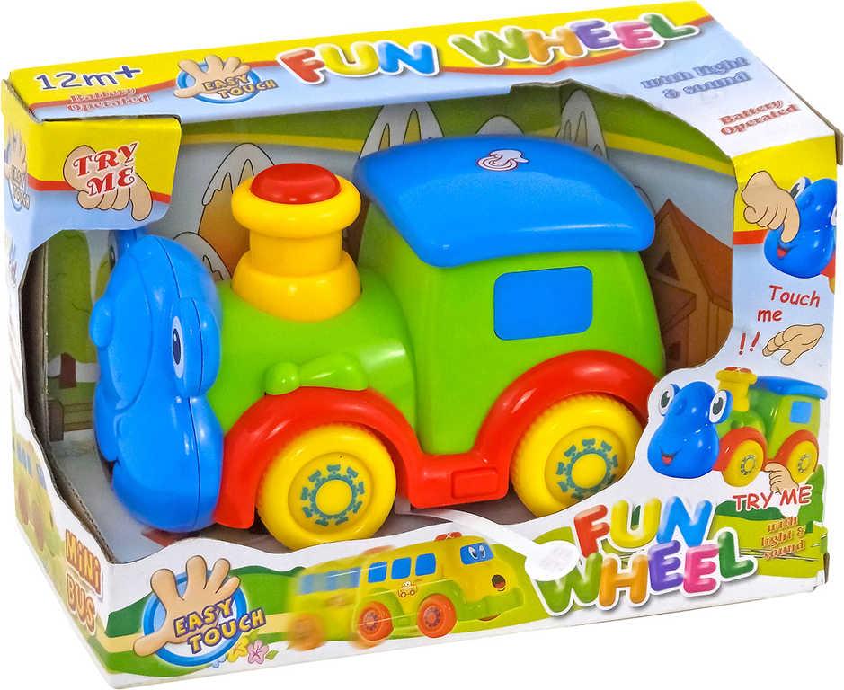 Baby lokomotiva na setrvačník na baterie Světlo Zvuk pro miminko