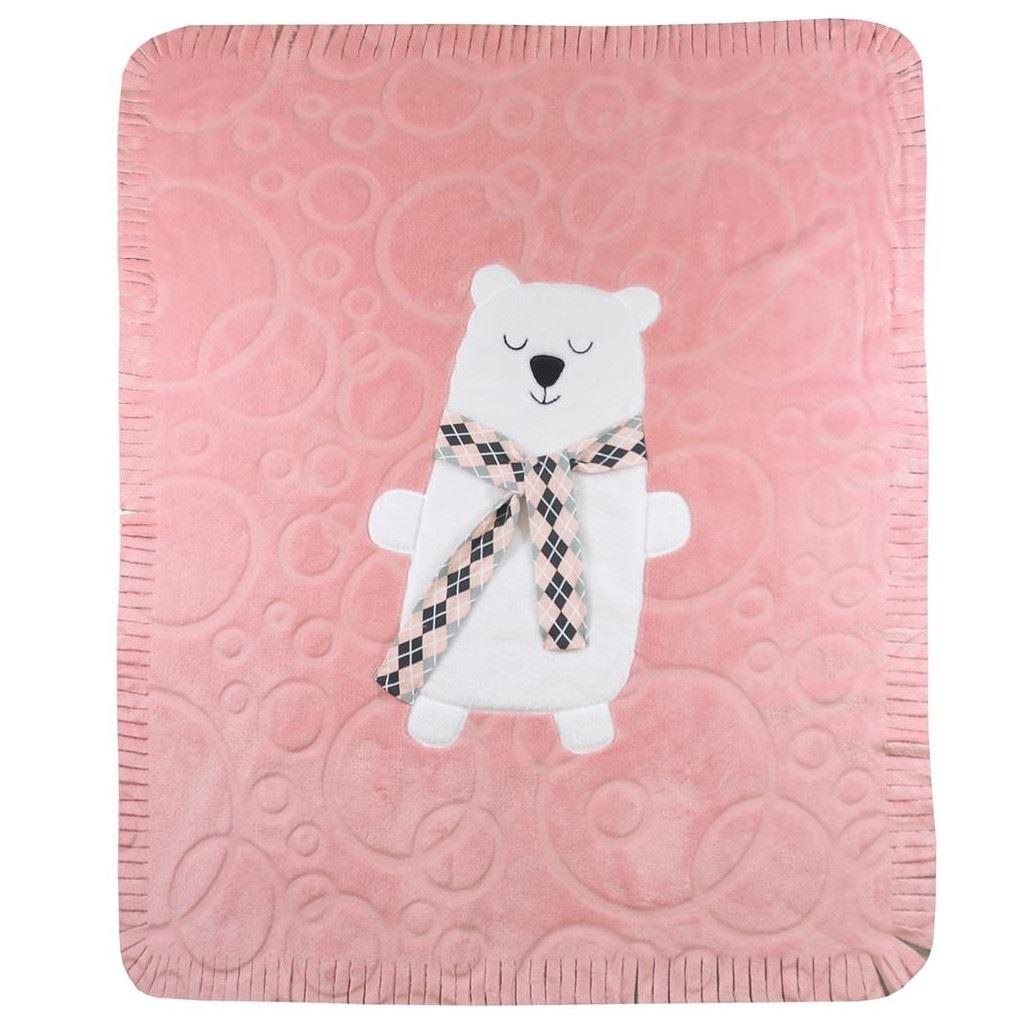 Dětská deka Koala Polar Bear - růžová