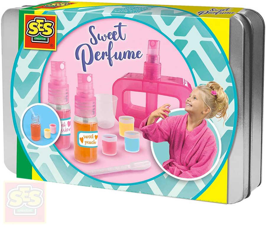 SES CREATIVE Výroba parfémů set parfémová laboratoř v plechové krabičce