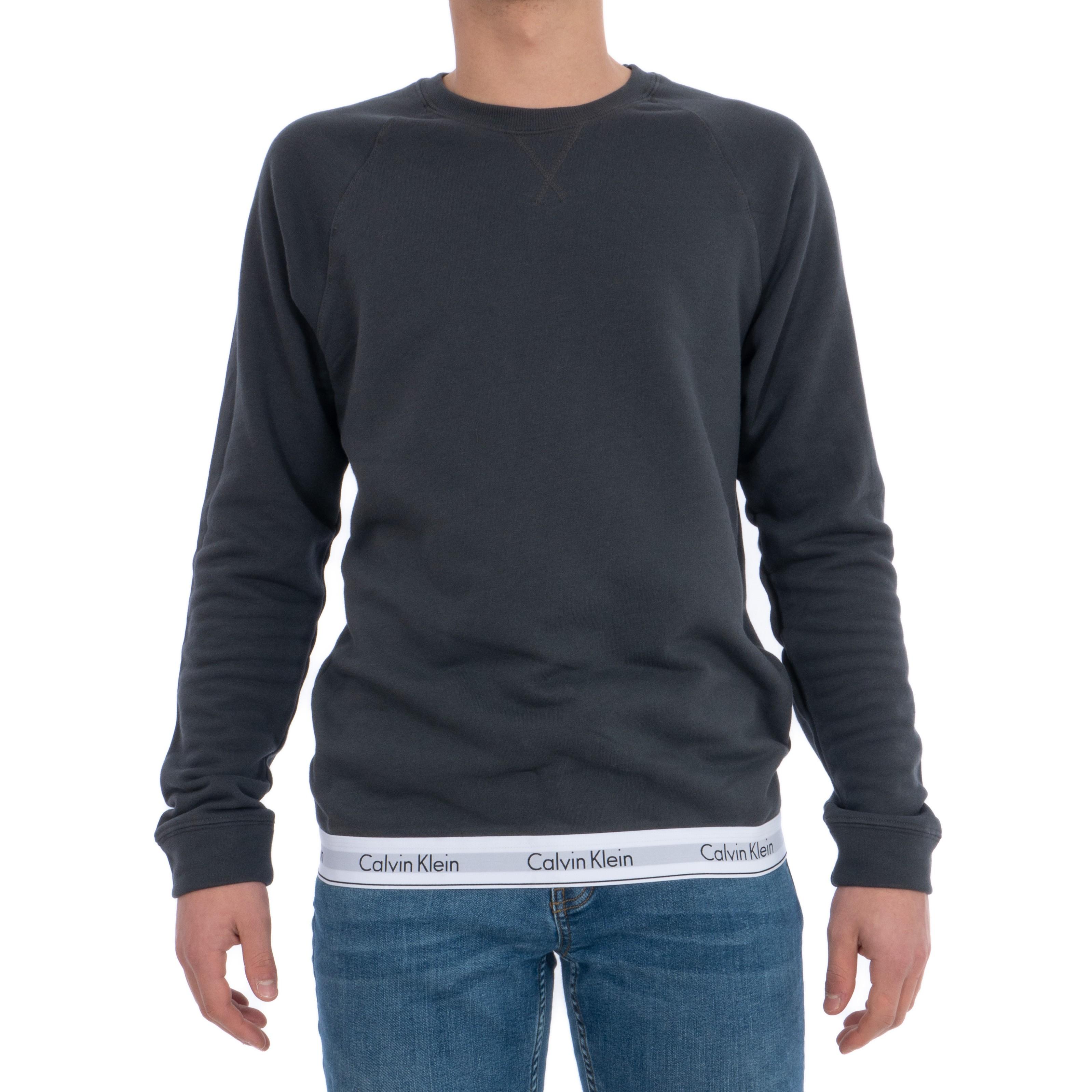 Pánské mikina NM1359E-2SJ tmavě šedá - Calvin Klein - Tmavě
