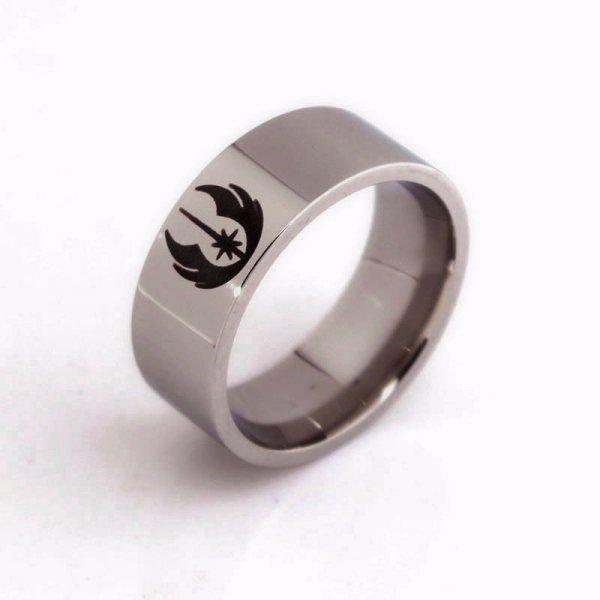 Ocelový prsten Star Wars - Jedi - Velikost: - 11