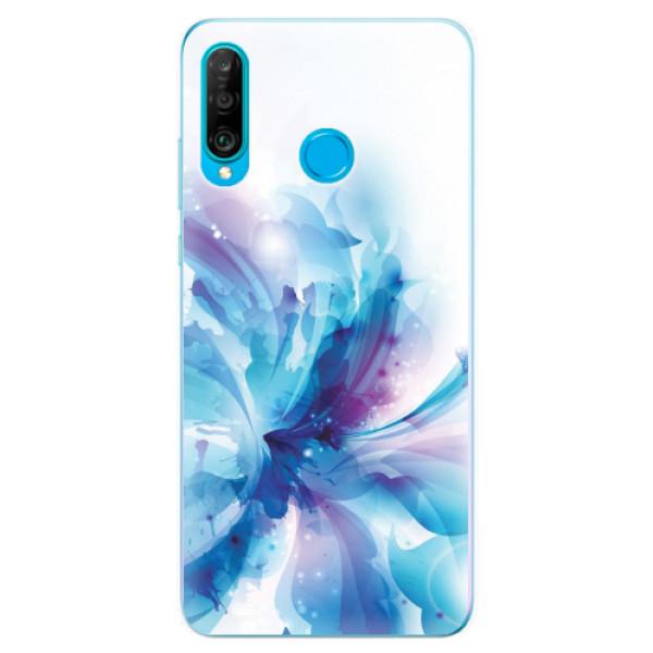 Odolné silikonové pouzdro iSaprio - Abstract Flower - Huawei P30 Lite