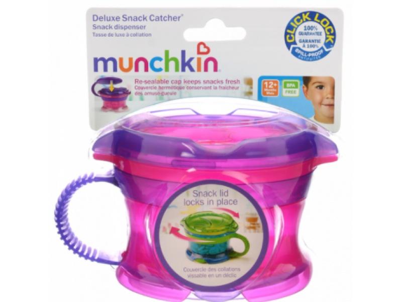 Munchkin - Svačinový hrneček Click Lock - Růžová