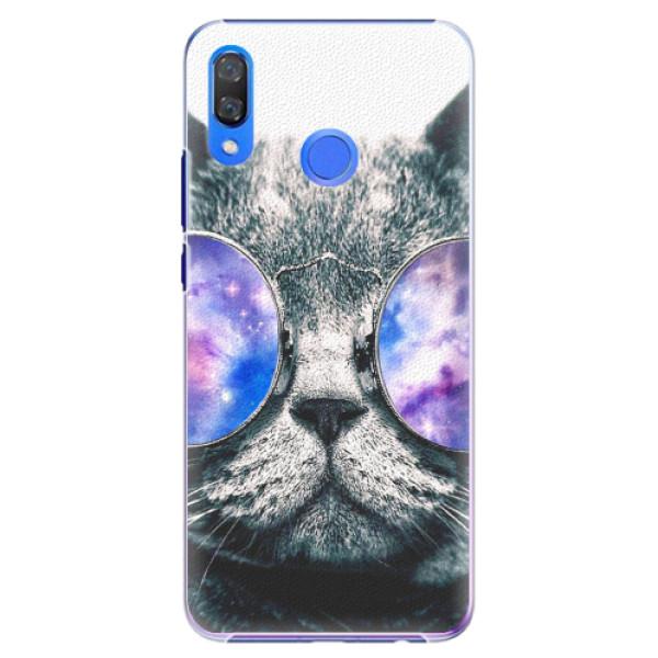 Plastové pouzdro iSaprio - Galaxy Cat - Huawei Y9 2019