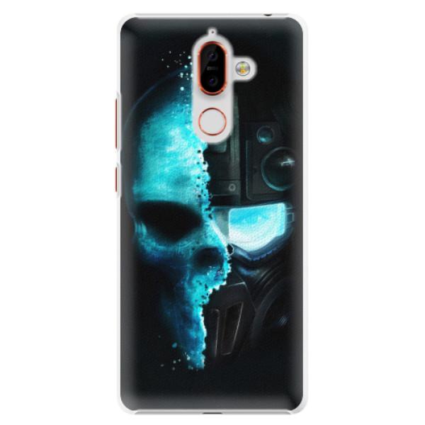 Plastové pouzdro iSaprio - Roboskull - Nokia 7 Plus