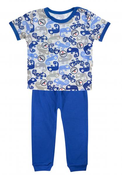 Mamatti Bavlněné pyžamko Mamatti Chameleon - krátký rukáv