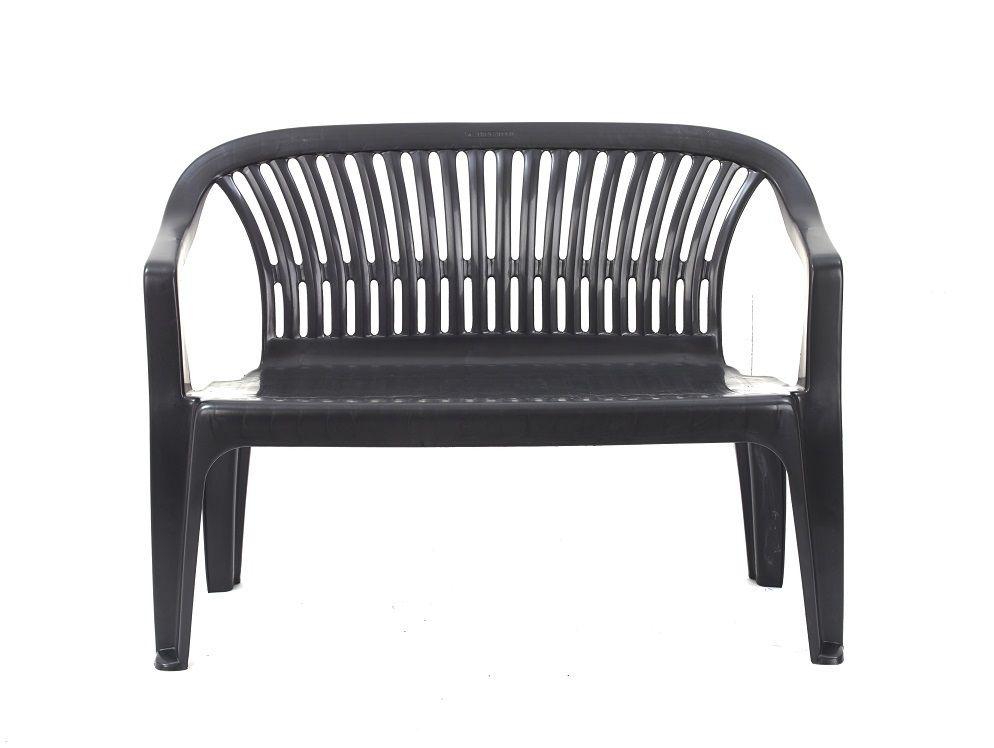Plastová lavice DIVA - grafit