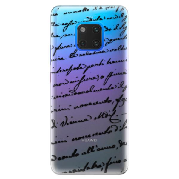 Silikonové pouzdro iSaprio - Handwriting 01 - black - Huawei Mate 20 Pro