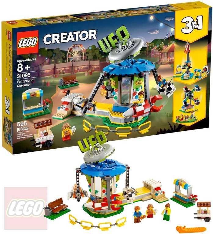 LEGO CREATOR Pouťový kolotoč 3v1 31095 STAVEBNICE