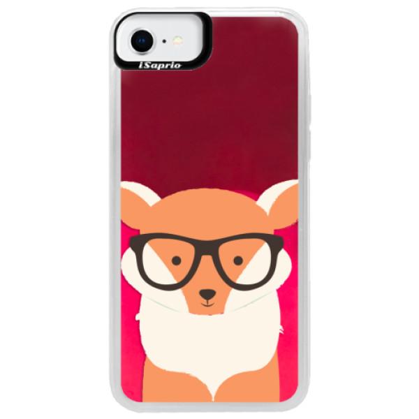 Neonové pouzdro Pink iSaprio - Orange Fox - iPhone SE 2020