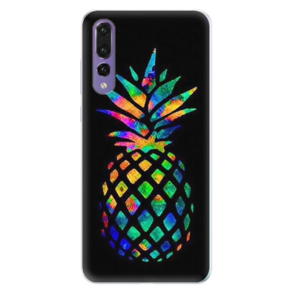 Silikonové pouzdro iSaprio - Rainbow Pineapple - Huawei P20 Pro