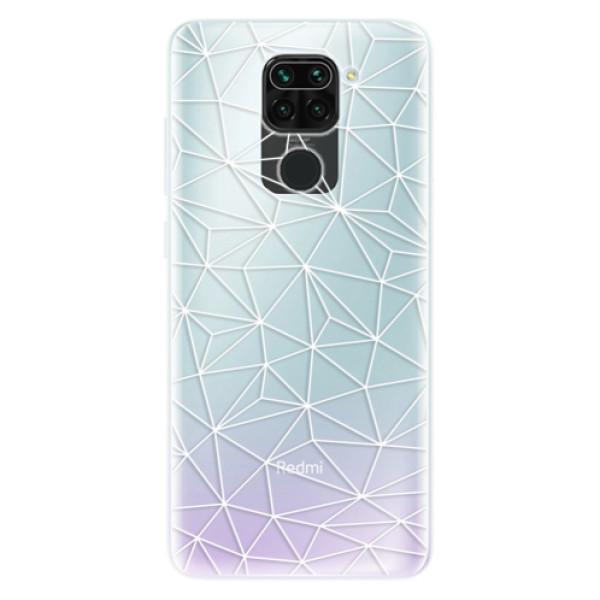 Odolné silikonové pouzdro iSaprio - Abstract Triangles 03 - white - Xiaomi Redmi Note 9