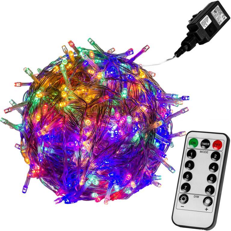 Vánoční LED osvětlení 40 m - barevná 400 LED + ovladač