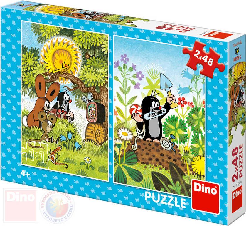DINO Puzzle Krtek a přátelé (Krteček) 18x26cm skládačka 2x48 dílků