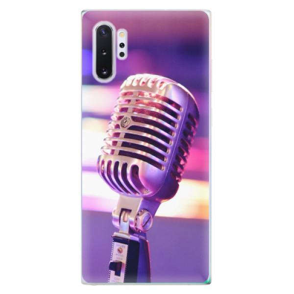 Odolné silikonové pouzdro iSaprio - Vintage Microphone - Samsung Galaxy Note 10+