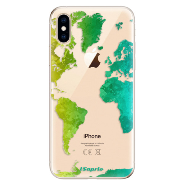 Odolné silikonové pouzdro iSaprio - Cold Map - iPhone XS