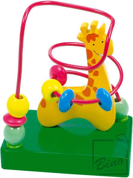BINO DŘEVO Motorický labyrint Žirafa * DŘEVĚNÉ HRAČKY *