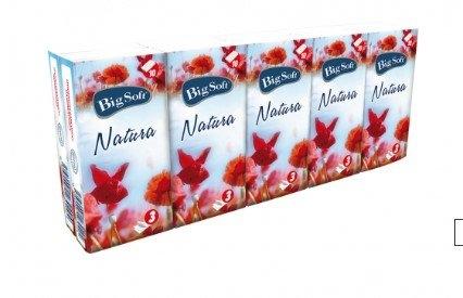 Natura 3vrstvé papírové kapesníčky, 10× 10 ks