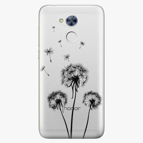 Plastový kryt iSaprio - Three Dandelions - black - Huawei Honor 6A