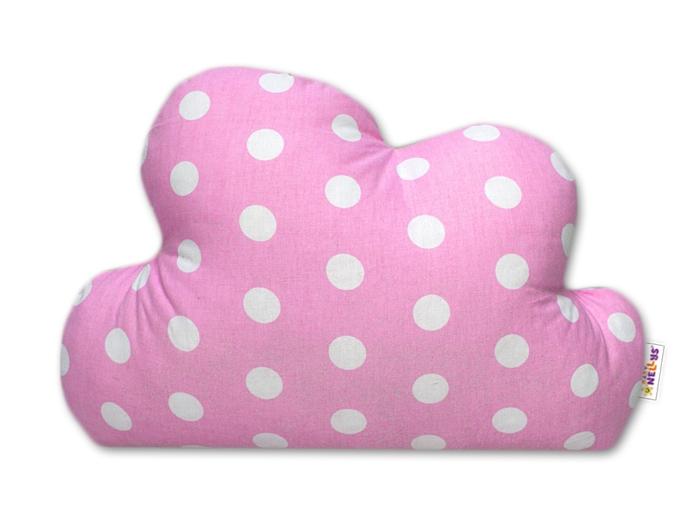 Baby Nellys Mráček - dekorační polštářek - Bubble růžový