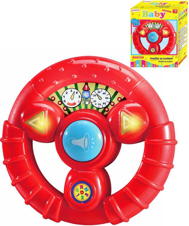 Baby volant zábavný dětský na baterie Světlo Zvuk červený pro miminko
