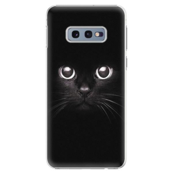 Plastové pouzdro iSaprio - Black Cat - Samsung Galaxy S10e