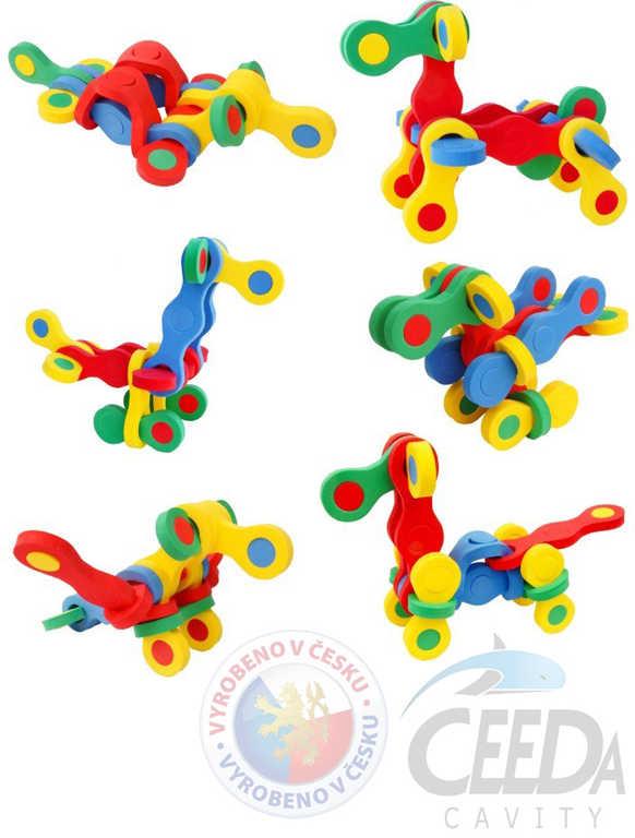CEEDA STAVEBNICE Kamarádi puzzlock pěnová kreativní 3D puzzle 13 dílků