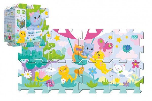 Pěnové puzzle 8 ks Koťátka 32 x 32 cm v sáčku 24m+