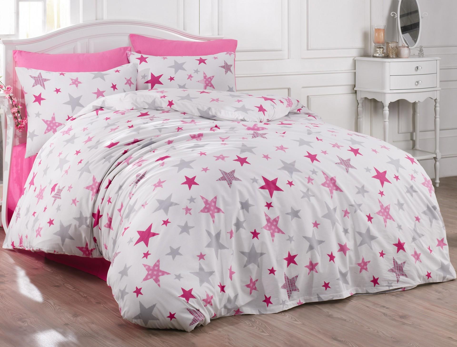 Prodloužené povlečení bavlna 140x220, 70x90cm Galaxy pink, Výběr zapínání: