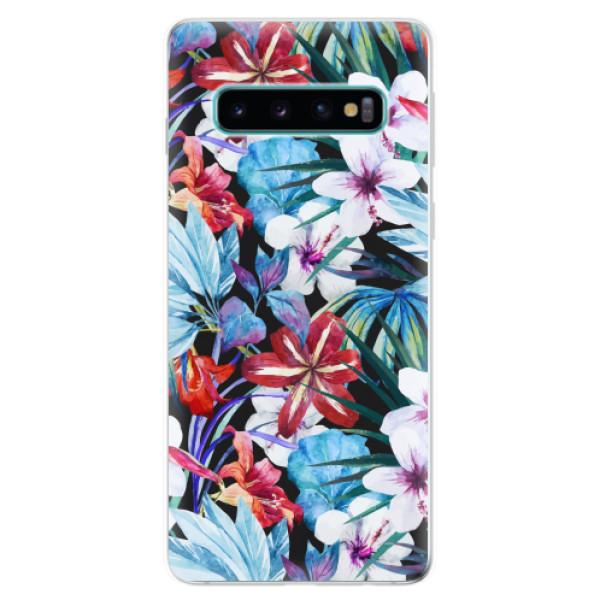 Odolné silikonové pouzdro iSaprio - Tropical Flowers 05 - Samsung Galaxy S10