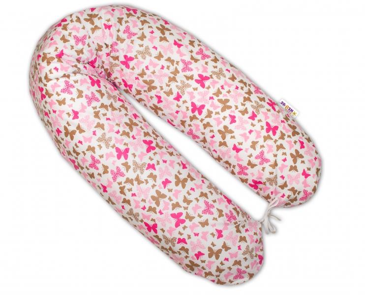Kojící polštář - relaxační poduška - Motýlci růžoví
