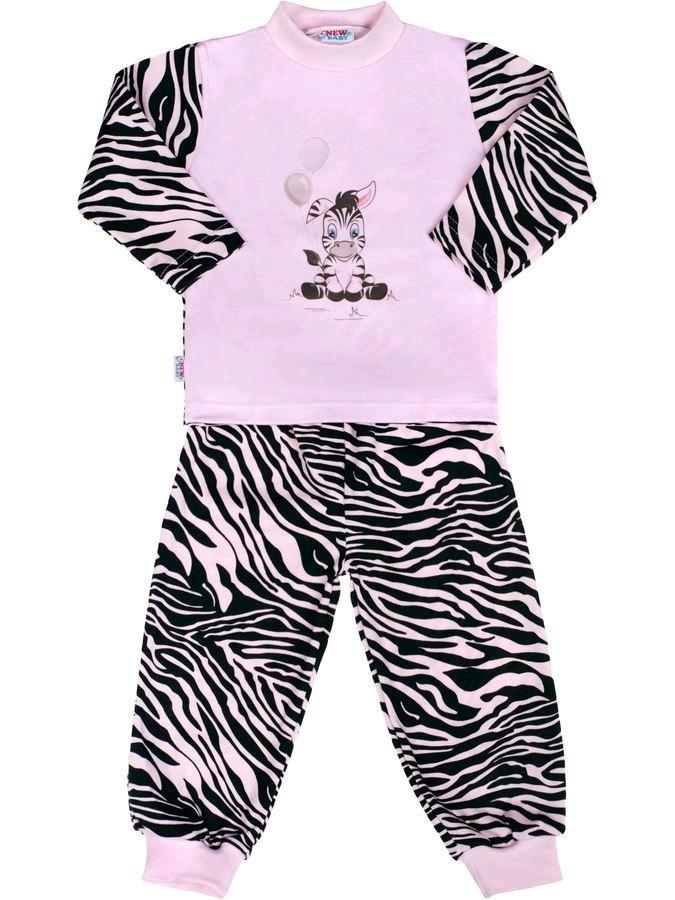 Dětské bavlněné pyžamo New Baby Zebra s balónkem - růžová/128 (7-8 let)