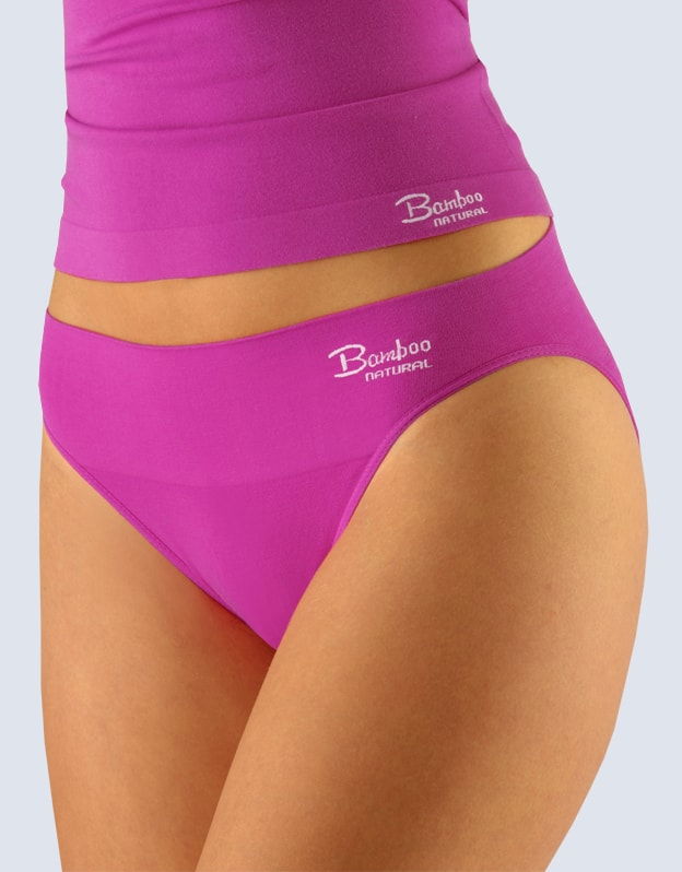 GINA dámské kalhotky klasické s úzkým bokem, úzký bok, bezešvé, jednobarevné Bamboo Natural 00027P - dunaj bílá