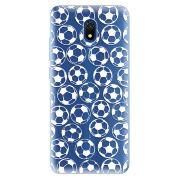 Odolné silikonové pouzdro iSaprio - Football pattern - white - Xiaomi Redmi 8A