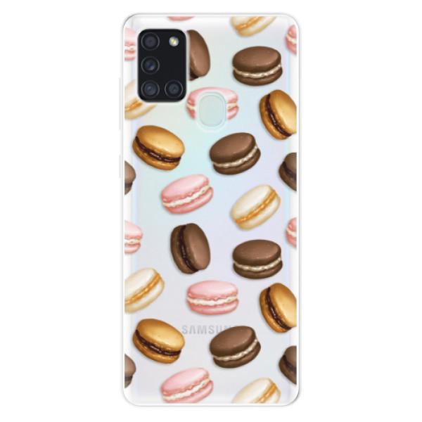 Odolné silikonové pouzdro iSaprio - Macaron Pattern - Samsung Galaxy A21s