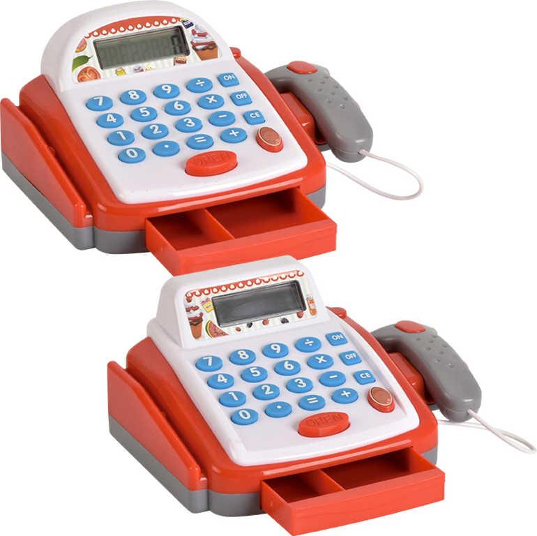 Pokladna dětská registrační s kalkulačkou a skenerem na baterie Světlo Zvuk