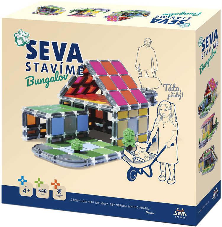 VISTA SEVA Stavíme - Bungalov plastová STAVEBNICE 458 dílků