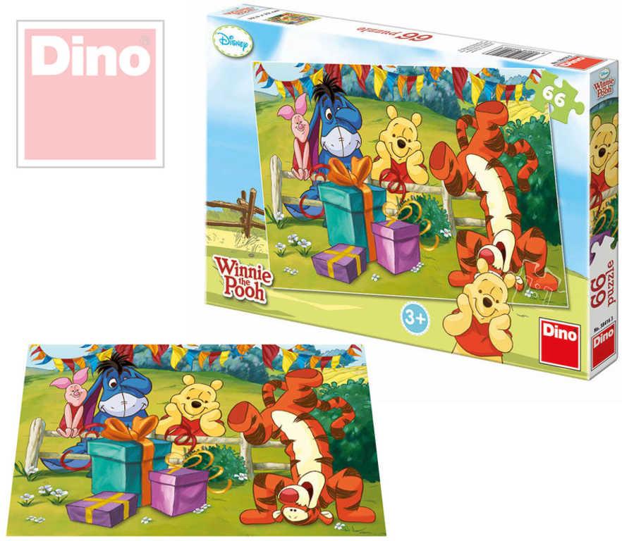 DINO Puzzle Medvidek Pú oslava 66 dílků v krabici 32x22cm