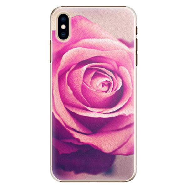 Plastové pouzdro iSaprio - Pink Rose - iPhone XS Max