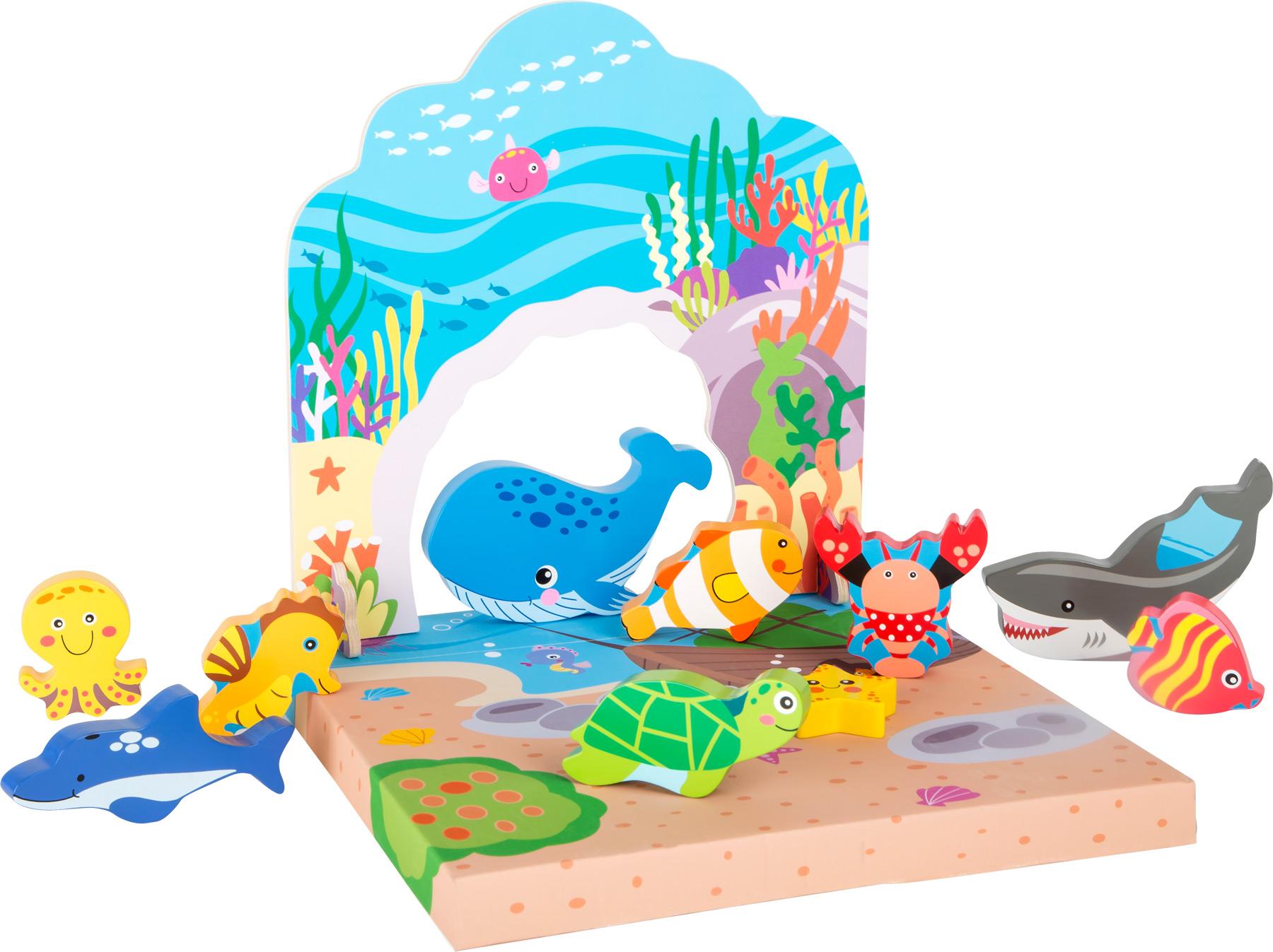Small Foot Dřevěná hračka podmořský svět