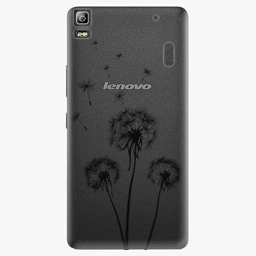 Plastový kryt iSaprio - Three Dandelions - black - Lenovo A7000