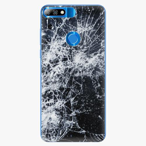 Silikonové pouzdro iSaprio - Cracked - Huawei Y7 Prime 2018