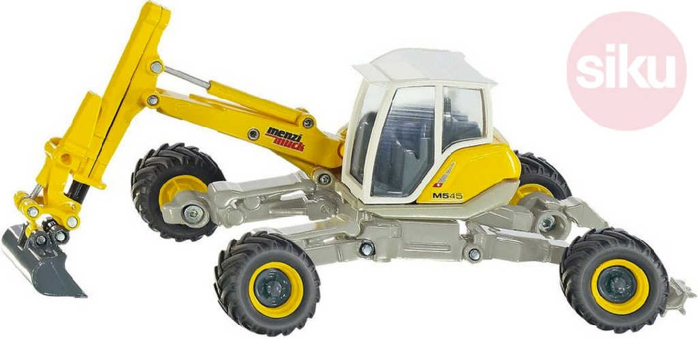 SIKU Bagr žlutý do težkého terénu Menzi -Muck 1:50 model kov 3548