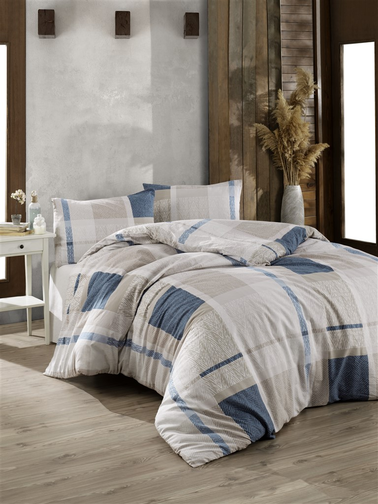 Povlečení francouzské bavlna 240x200,70x90 Alegro blue, Výběr zapínání: